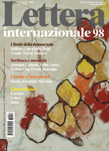 "Copertina di ""Lettera internazionale 98""."