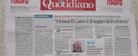 """<span class=""""dquo"""">""""</span>Ormai Il Cairo è il regno dell'arbitrio""""<span class=""""wtr-time-wrap after-title""""><span class=""""wtr-time-number"""">3</span>′ di lettura</span>"""
